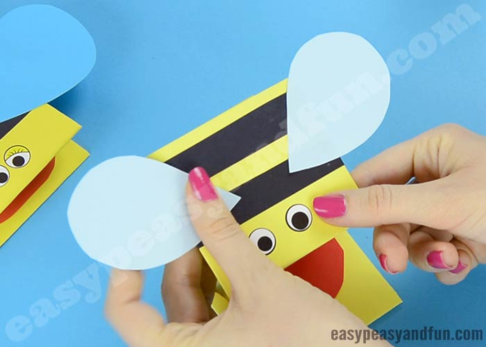 Template Bee Finger Puppet Printableincredibly cute bee finger