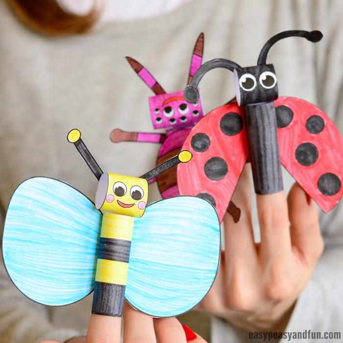 Bumblebee Crafts Activities For Kidsbee Finger Puppet Craft