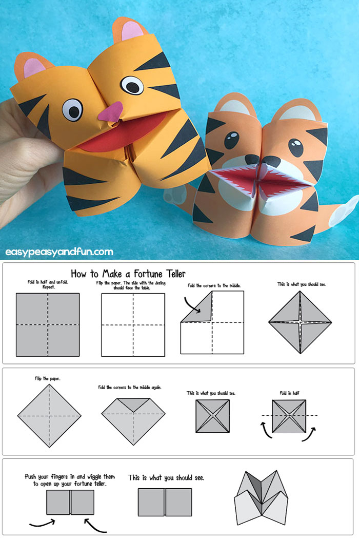 How to Make a Fortune Teller (Printable Diagram Included) + Cootie