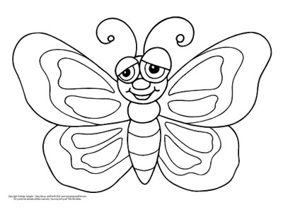 Butterfly Coloring Pages - Free Printable - from Cute to Realistic