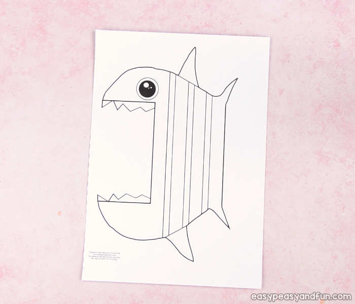 Surprise Big Mouth Fish Printable - Easy Peasy and Fun