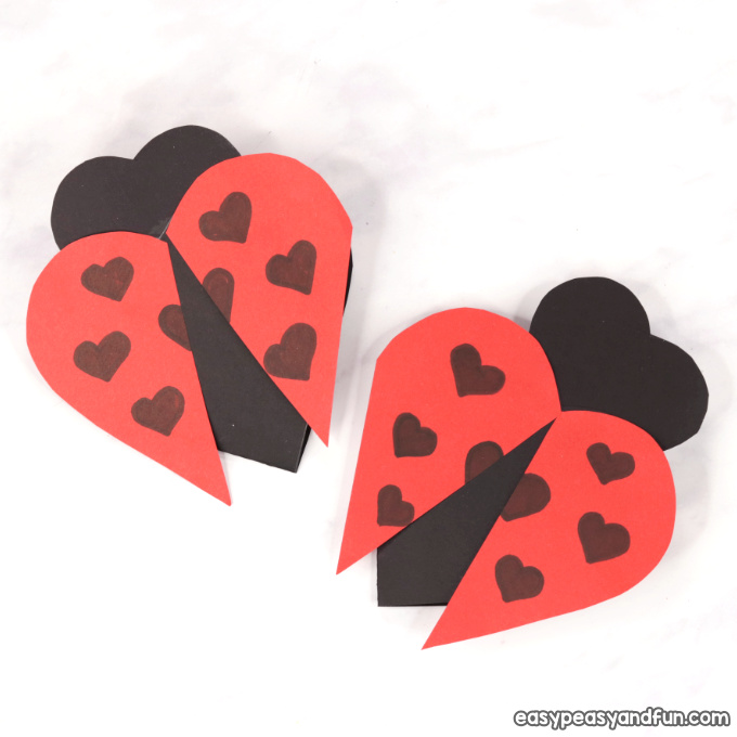 Heart Ladybug Craft - Easy Peasy and Fun