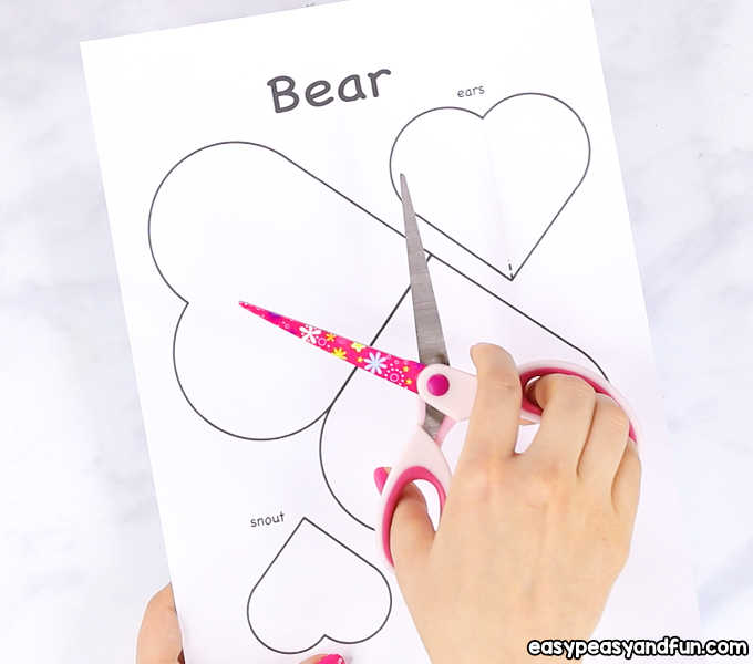 Heart Bear Craft - Valentines Day Card Idea - Easy Peasy and Fun