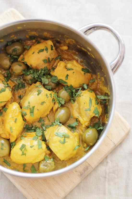Chicken Tagine with Olives and Preserved Lemon - Easy Peasy Foodie
