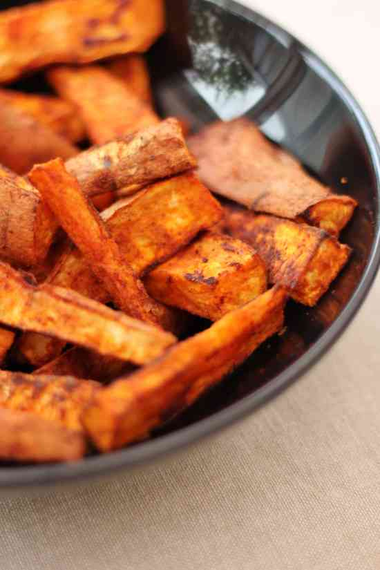 Homemade Sweet Potato and Smoked Paprika Chips - Easy Peasy Foodie