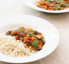 Quick Aubergine and Chickpea Curry 5