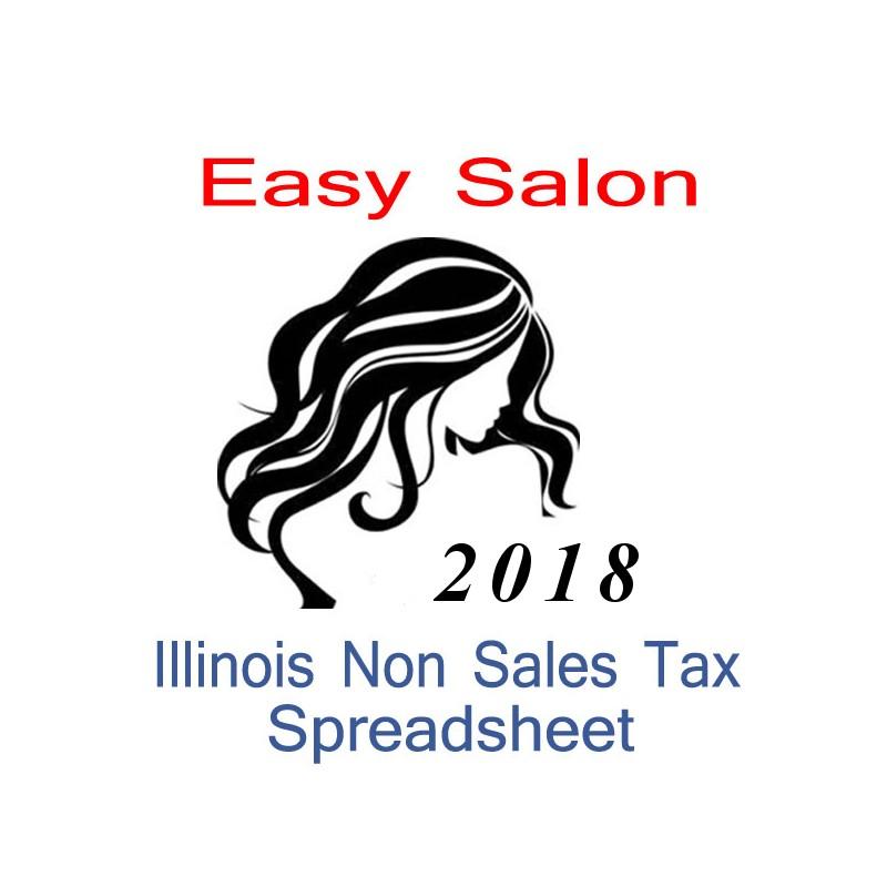 Illinois Non-Sales Tax Hairdresser Bookkeeping Spreadsheets