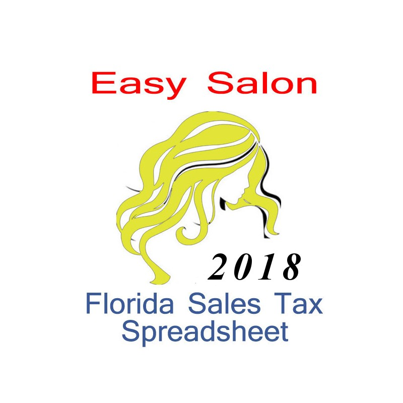 Florida Salon Accounts  Sales Tax Spreadsheet for 2018 year end
