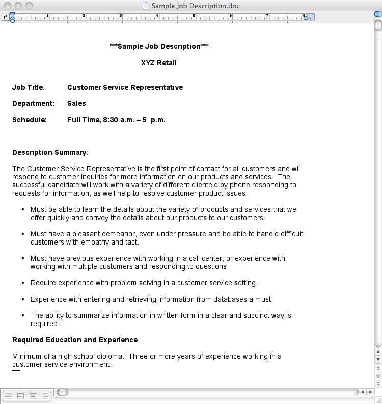 Blackmagic Atem How To Write A Job Description - how to write a job summary