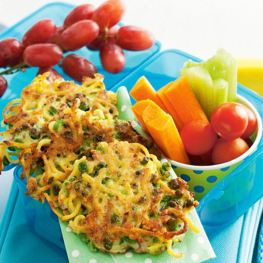 Pea and Noodle Snack Fritters - Healthy Snack Recipes