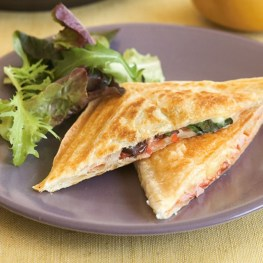 Pizza Pie in Sandwich Maker - Healthy Breakfast Ideas