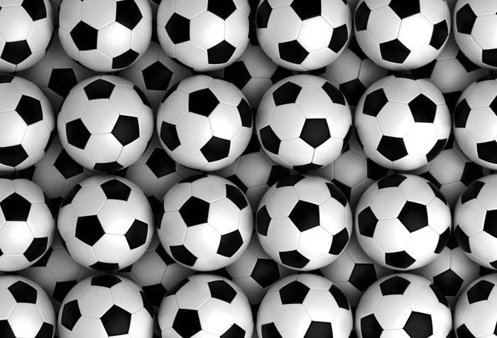 3d Wallpaper For Walls India Background With Soccer Balls Wallpaper For Kids Room Decor