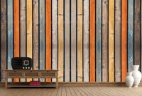 Buy Multi Colored Wood Background Wall Murals in Textures ...