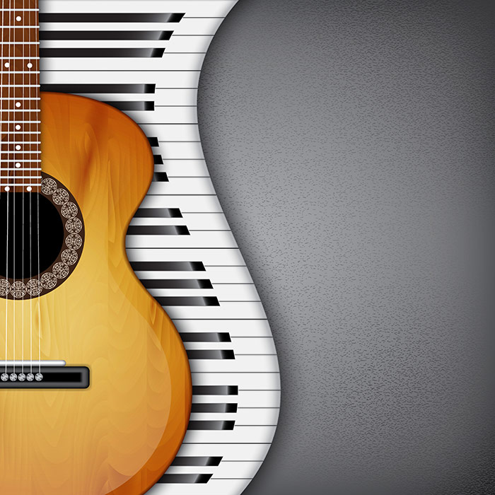 3d Wallpaper For Home Wall India Shop Piano Keys And Guitar Wallpaper In Music Theme