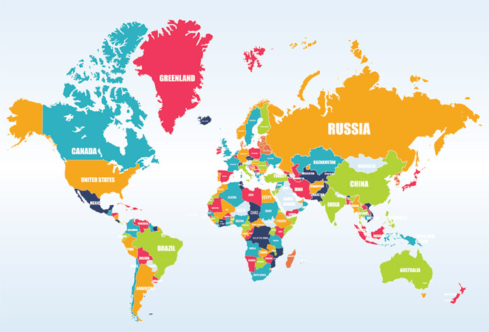 3d Wallpaper For Home Wall India Shop Colorful World Map Wallpaper In Maps Amp Geography Theme