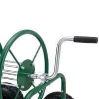 pro.tec Metal Hose cart 80m hose Drum Retractor Garden ...