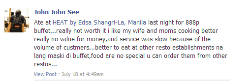 Heat Buffet Review from fb
