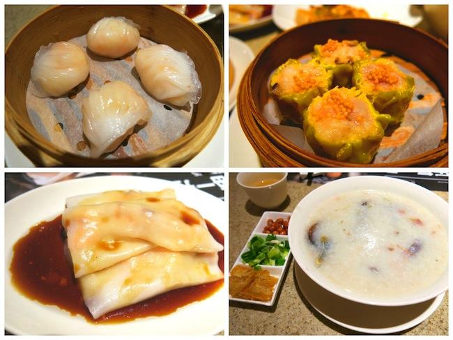 Yum Cha Dim Sum at Sands Cotai Central Macau, Har Gao, Siew Mai, Century Egg Congee, Shrimp Rice Roll