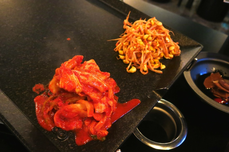 Eight Korean BBQ Side Dish: Kimchi and Bean Sprouts