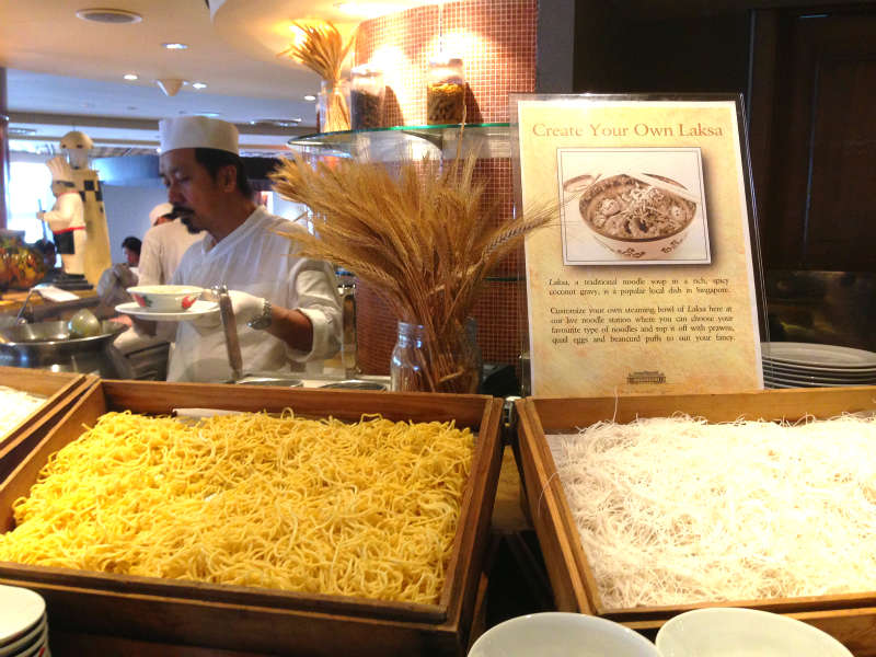 Create your own laksa at Town Restaurant, Fullerton Hotel Singapore