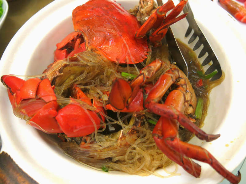 Resort Seafood Genting Highlands Claypot Live Crab with Glass Noodles