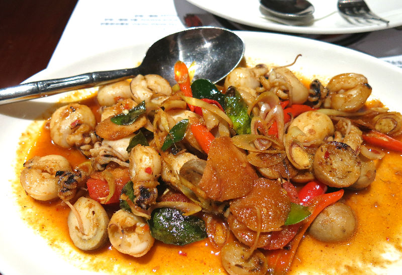 Simply Thai Wok Fried Squid with Tom Yam Paste