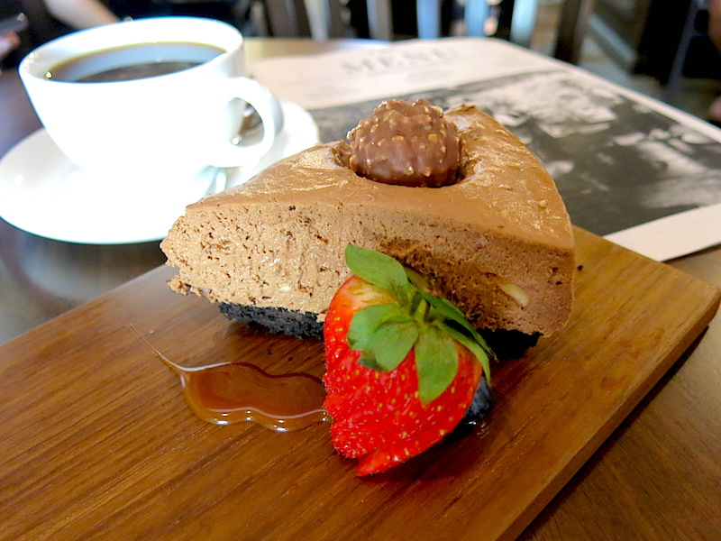 Chocolate Rocher Cheese Cake From And Why Cafe