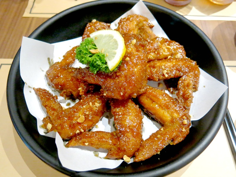 Soy and Garlic Chicken Wing - Twins Korean Restaurant Singapore
