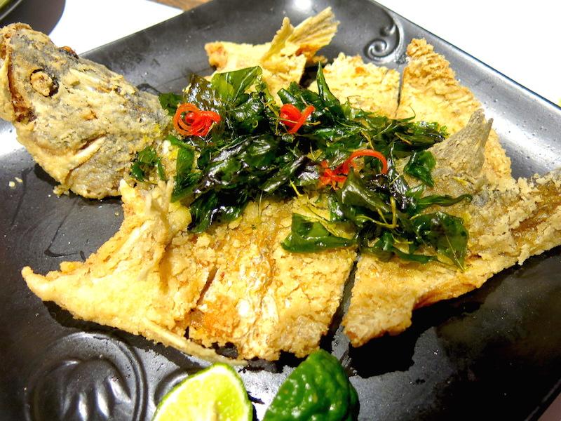 Kaffir & Lime Singapore - Deep fried Whole Sea Bass