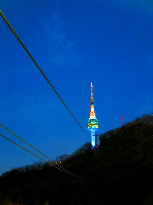 N seoul Tower view from Cable Car
