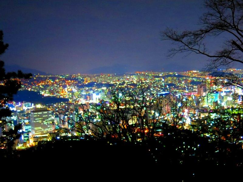 Seoul Night View from Namsan mountain