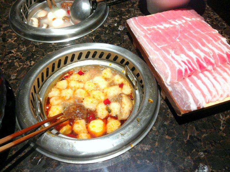 Hai Di Lao Singapore - Individual Mala Pot with Fish Paste