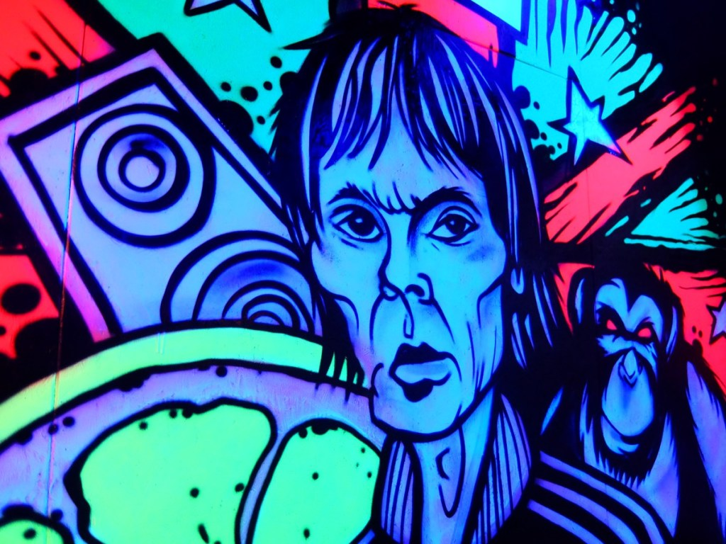 Ian Brown Mural at Roxy