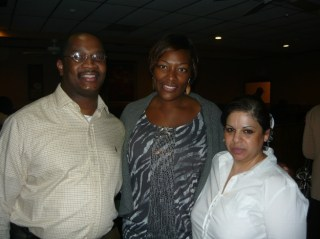 Owners Ernest and Maria Jackson with Tiffany Derry