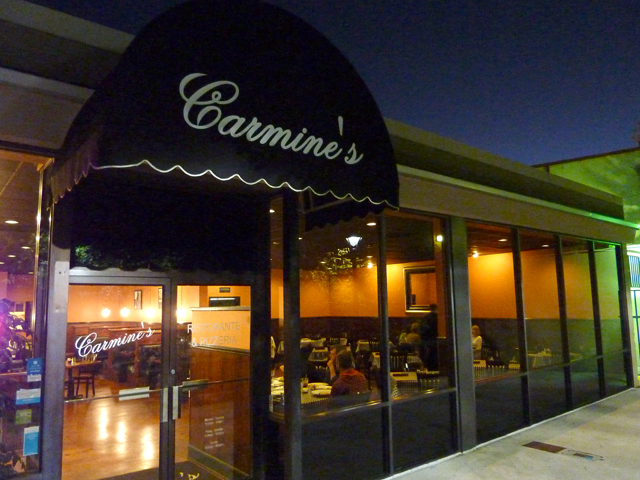 outside Carmine's in Eastgate Shopping Center