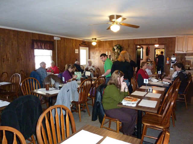 Dining room at The Old Place in Bear Creek NC