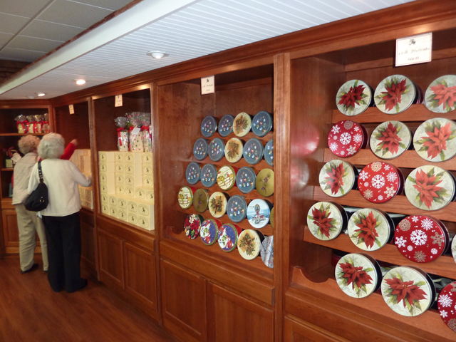 wall display of fruitcakes