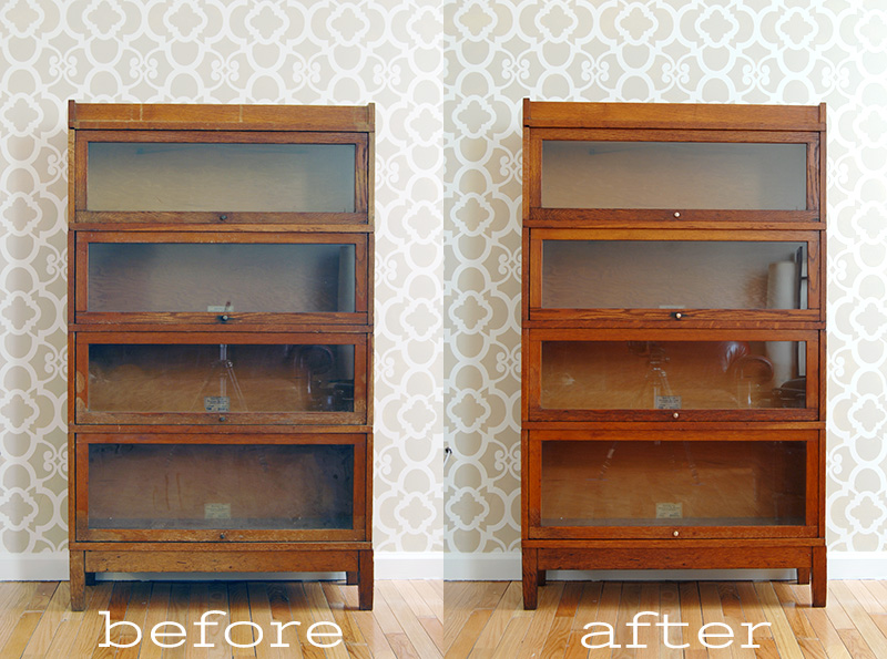 restore wood bookcase