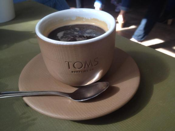 A Cup of TOMS Roasting Coffee in Austin