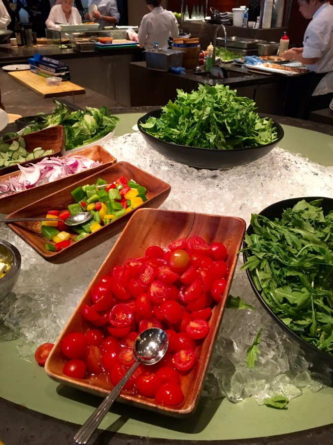 salad bar at Collins Kitchen Grand Hyatt Buffet