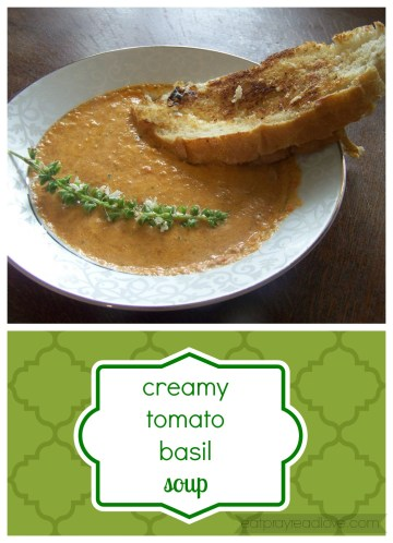 tomato basil soup collage