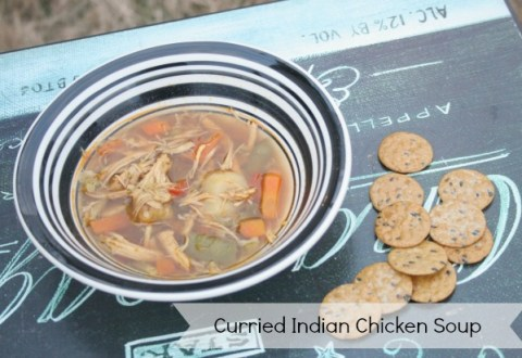 curried indian chicken soup