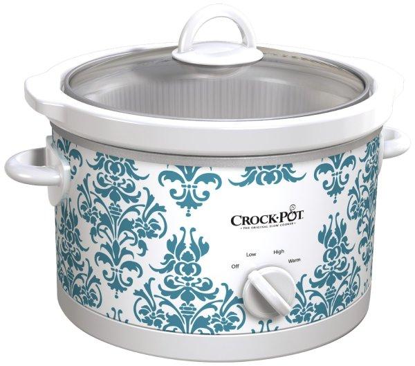 teal crock pot