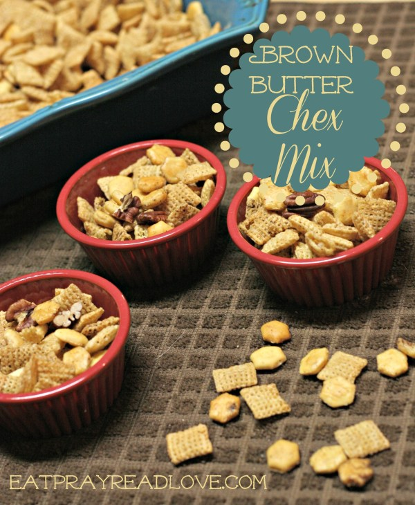 This brown butter Chex mix will rock your world. Perfectly seasoned and crunchy, it's the perfect party food!