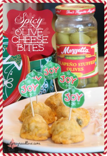 spicy olive cheese bites- the perfect appetizer for your Christmas party!