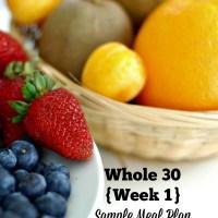 Whole30 Sample Meal Plan- Week 1