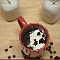 Cranberry and Dark Chocolate Mug Brownie