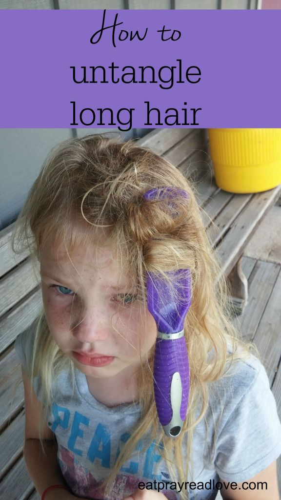 how to untangle long hair- tips and tricks gleaned over 35 years of having long hair myself!