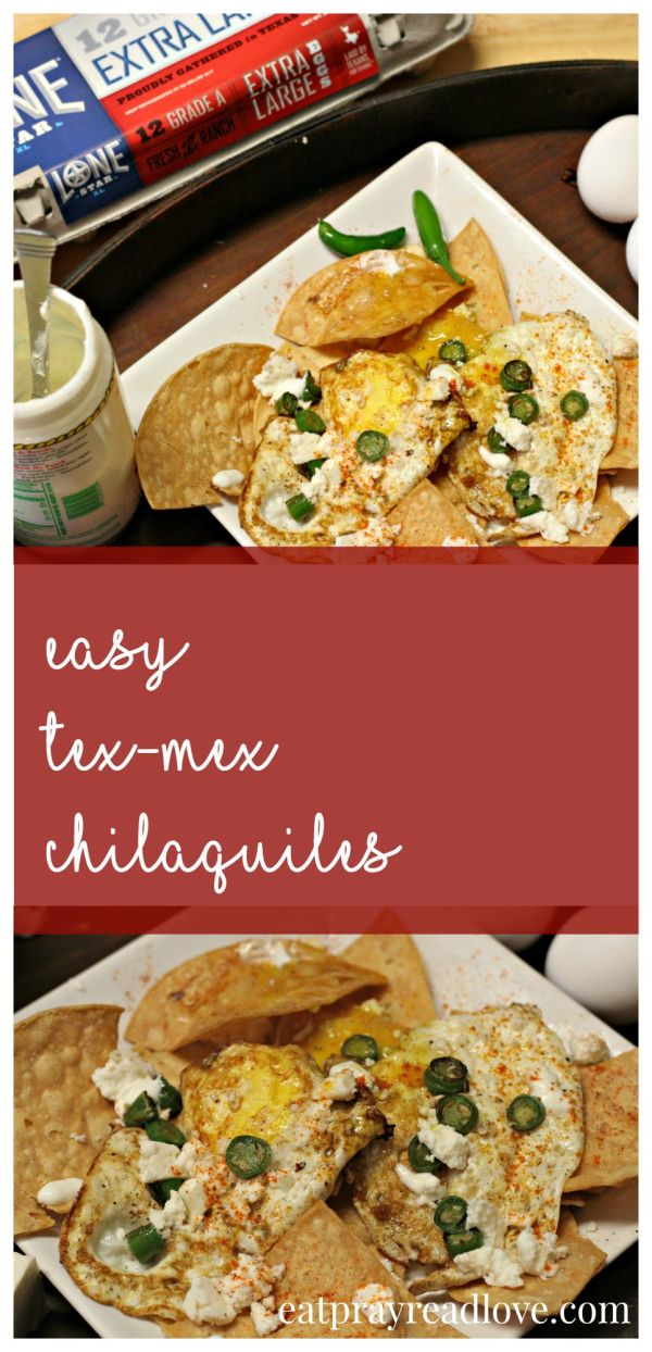 These easy Tex-Mex chilaquiles are the perfect addition to your brunch menu, and make a delicious easy dinner as well!