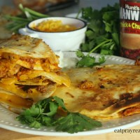 Beefed Up 'n' Saucy Quesadillas
